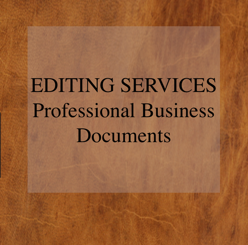 Editing Services - Professional Business Documents