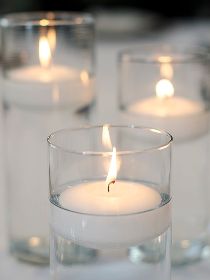 3 Quot Floating Candles And Cylinder Vases Set Of 18