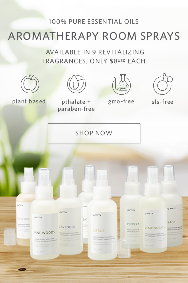 100% pure essential oils. Aromatherapy room sprays. Available in 9 revitalizing fragrances, only $8 USD each. Plant based, pthalate and paraben-free, gmo-free, sls-free. Shop Now.