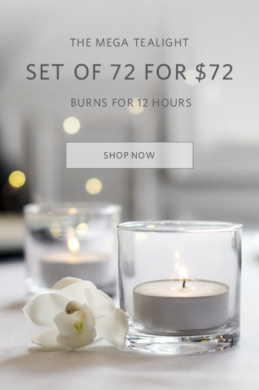 The set of 72 Metallic Votives. 72 Votive Candles + 72 Votive Holders. $72 USD