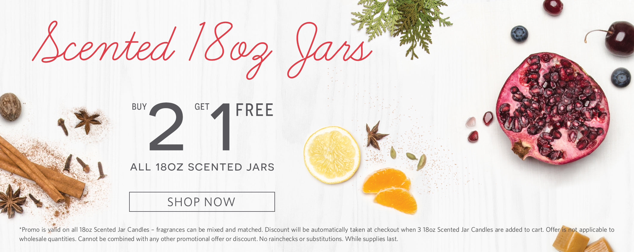 Scented 18oz Jars. Buy 2 Get 1 free all 18oz scented jars.
