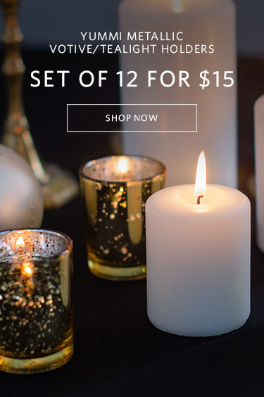 Yummi Metallic Votive/Tealight Holders set of 12 for $15