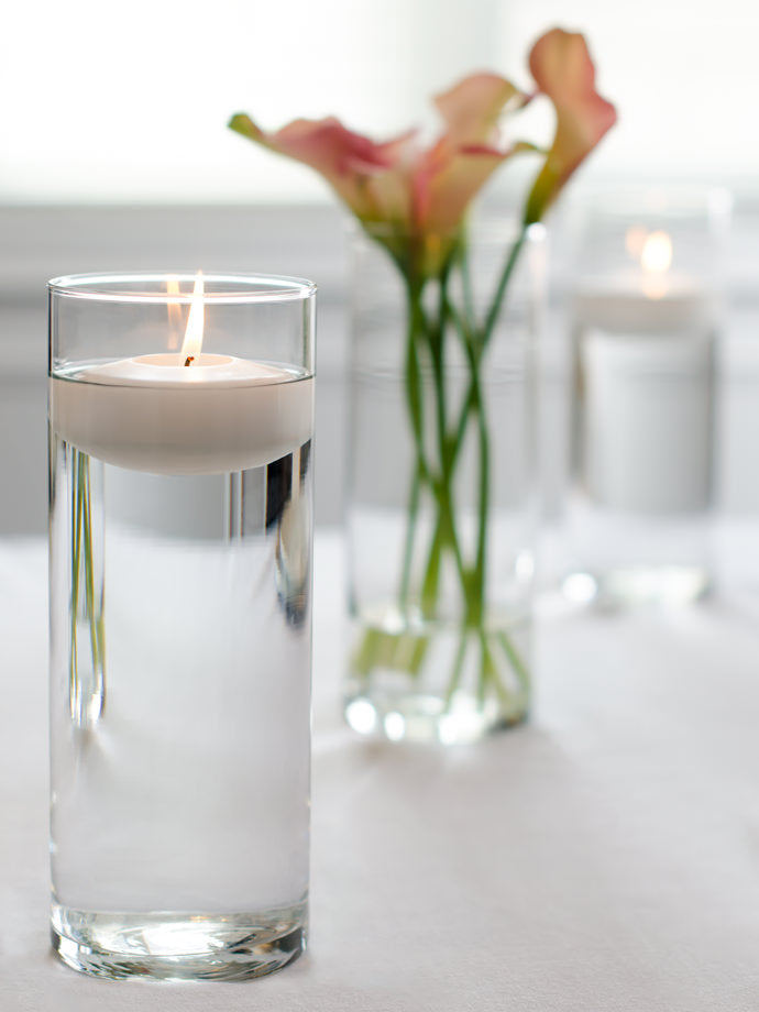 3 Quot Floating Candles And 9 Quot Cylinder Vases Set Of 12