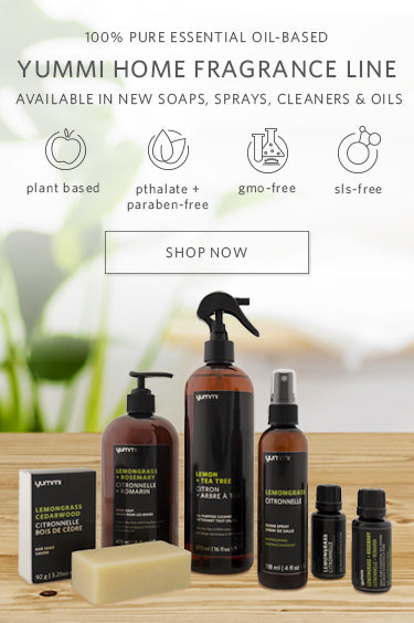 100% Pure Essential Oil-based Yummi Home Fragrance Line available in new soaps, sprays, cleaners and oils. Plant-based, Pthalate and paraben-free, gmo-free, sls-free. Shop Now.