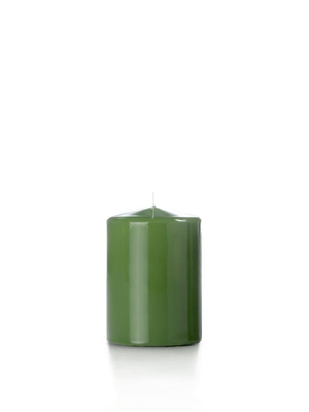 "3"" x 4"" High Gloss Pillar Candles Green Tea"