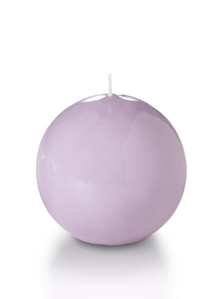 "3"" High Gloss Sphere Candles Violet"