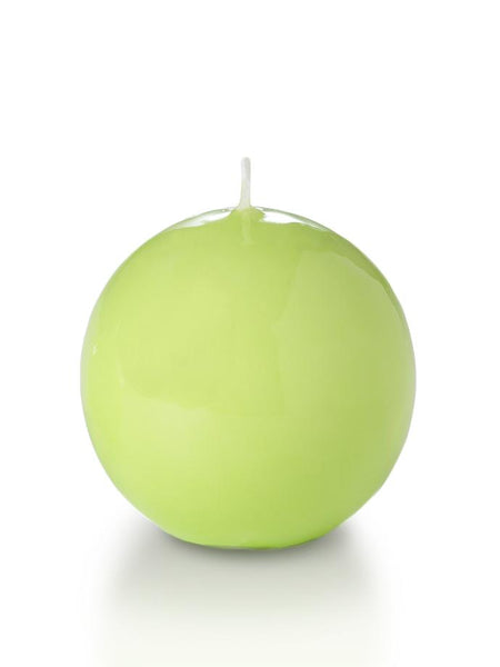 "3"" High Gloss Sphere Candles Celery Green"