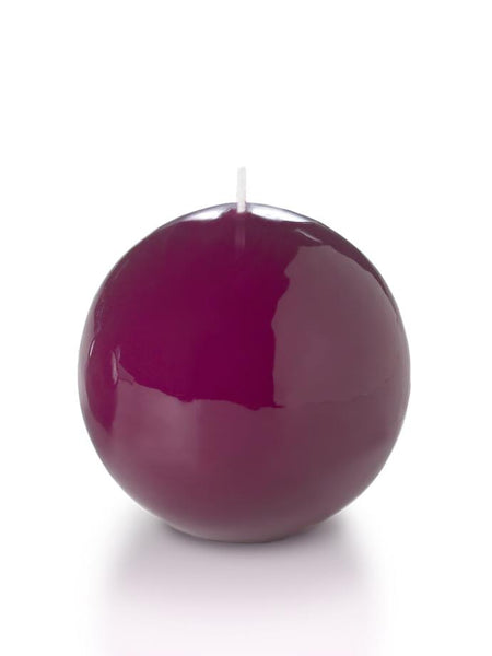 "3"" High Gloss Sphere Candles Magenta"