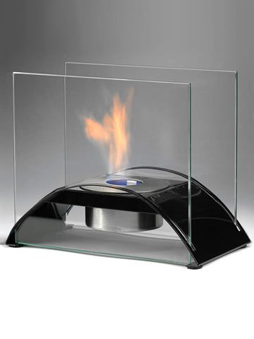 Sunset Ethanol Fireplace Black