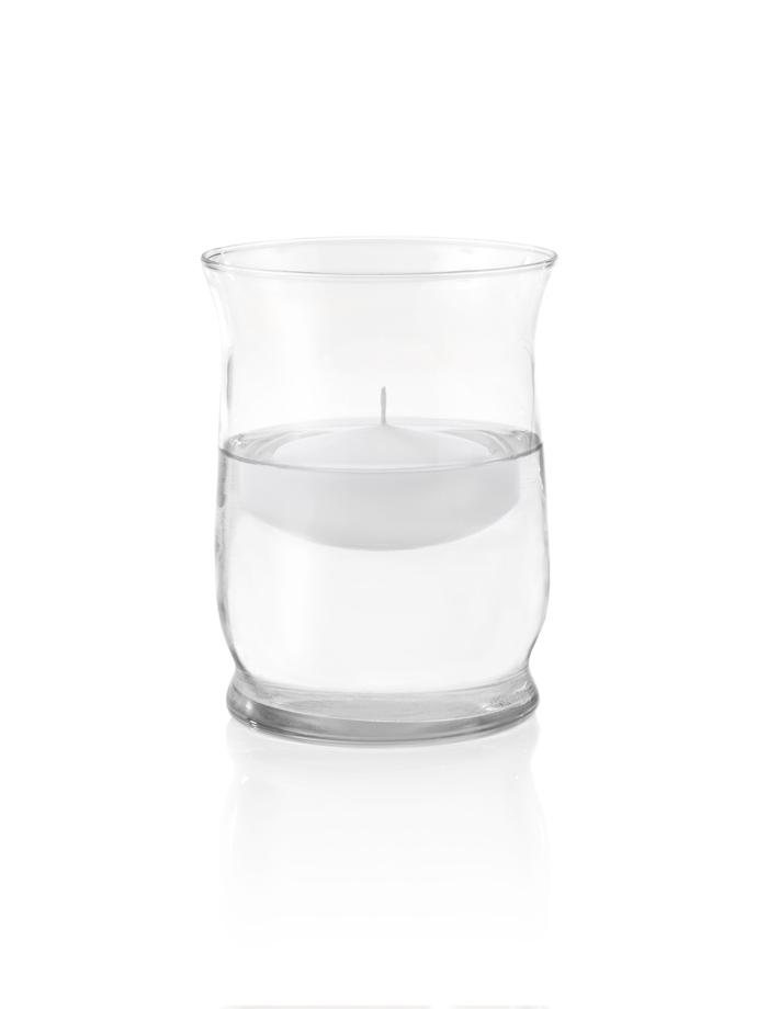 Glass Hurricane Floating Candle Set Of 12 Yummicandles