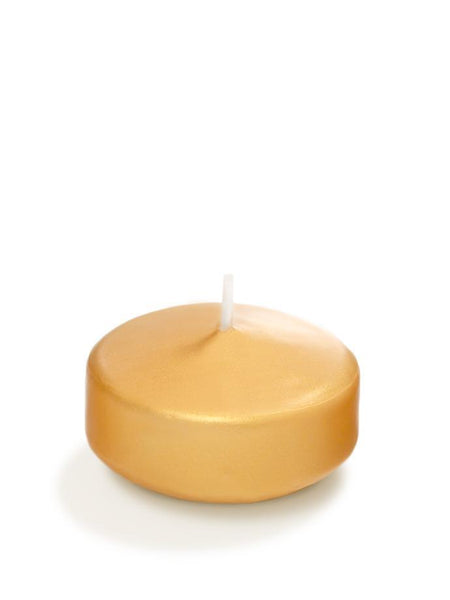 "3"" Pearlescent Floating Candles Gold"