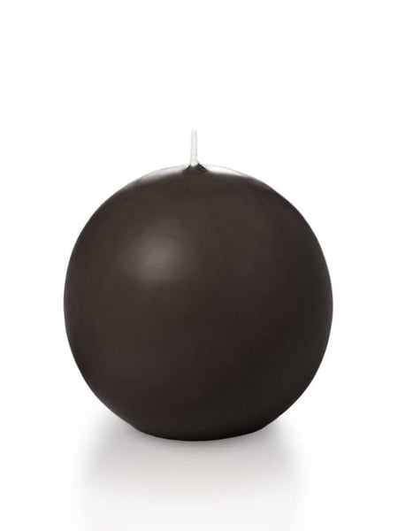 "2.8"" Sphere / Ball Candles Chocolate"