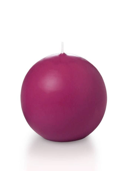 "2.8"" Sphere / Ball Candles Hot Pink"