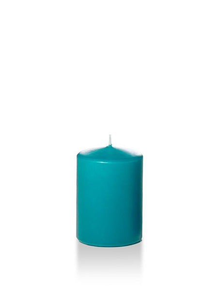 "3"" x 4"" Pillar Candles Turquoise"