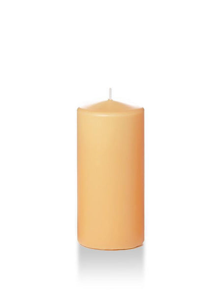 "3"" x 6"" Pillar Candles Caramel"