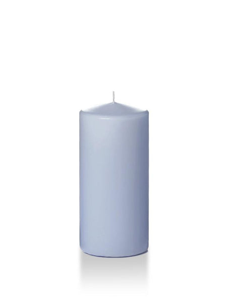"3"" x 6"" Pillar Candles Periwinkle Blue"