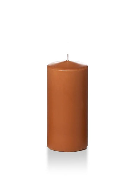 "3"" x 6"" Pillar Candles Toffee"
