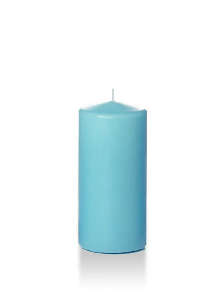 "3"" x 6"" Pillar Candles Caribbean Blue"
