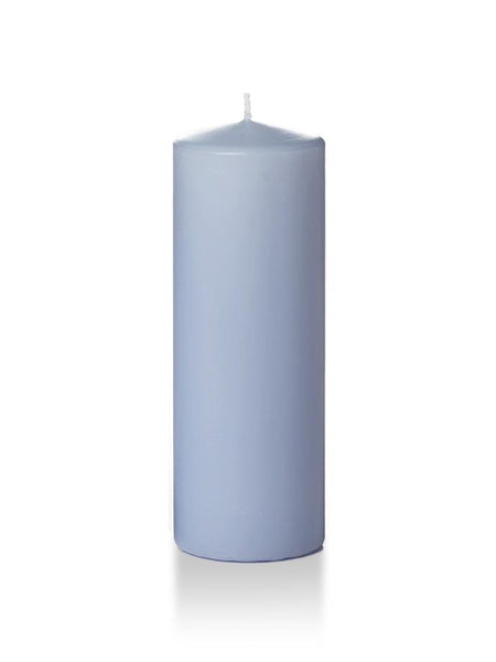 "3"" x 8"" Pillar Candles Periwinkle Blue"