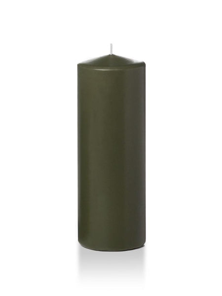 "3"" x 8"" Pillar Candles Olive"
