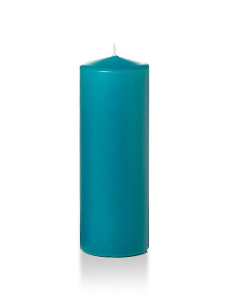 "3"" x 8"" Pillar Candles Turquoise"