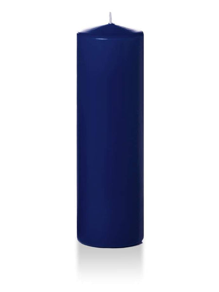 "3"" x 10"" Pillar Candles Navy Blue"