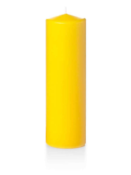 "3"" x 10"" Pillar Candles Bright Yellow"