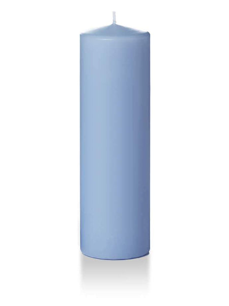 "3"" x 10"" Pillar Candles Periwinkle Blue"