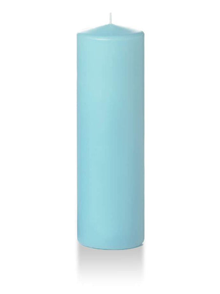 "3"" x 10"" Pillar Candles Robin Egg Blue"