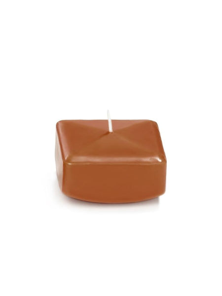 "2.25"" Square Floating Candles Toffee"