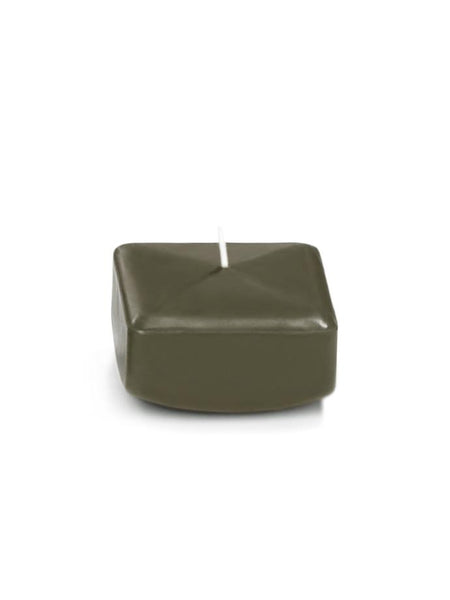 "2.25"" Square Floating Candles Olive"