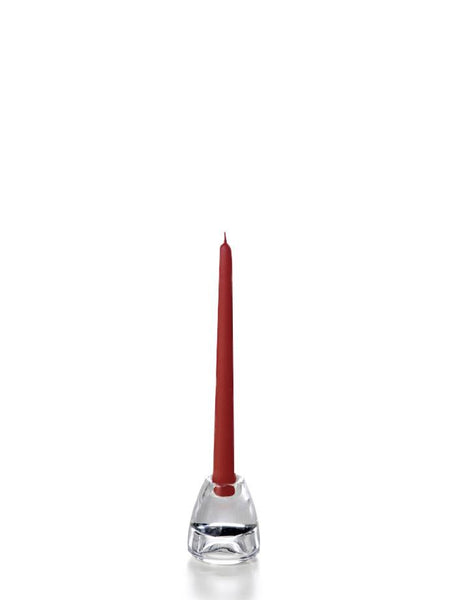 "10"" Handcrafted Taper Candles Burgundy"