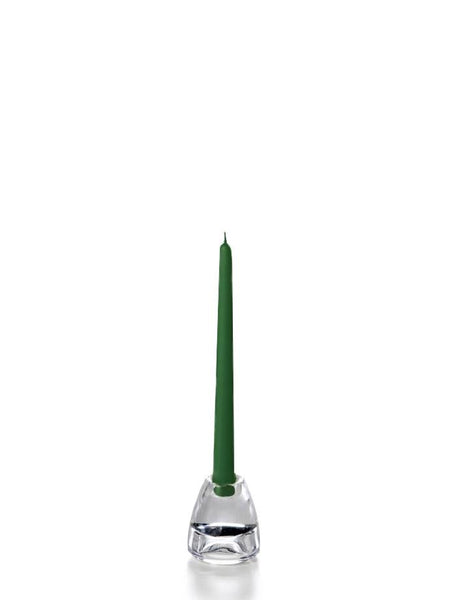 "10"" Handcrafted Taper Candles Hunter Green"
