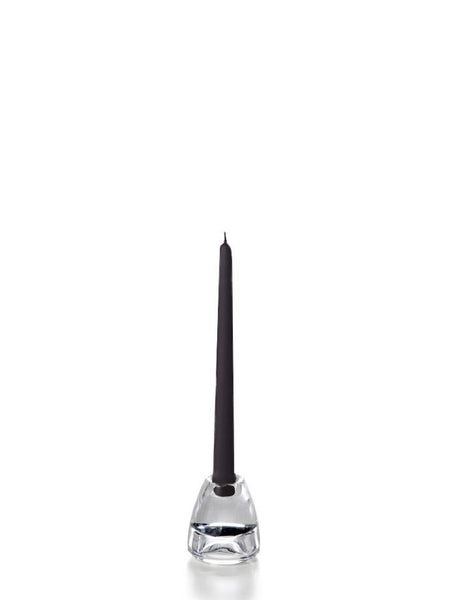 "10"" Handcrafted Taper Candles Black"