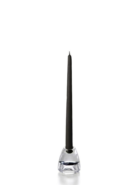 "12"" Handcrafted Taper Candles Black"