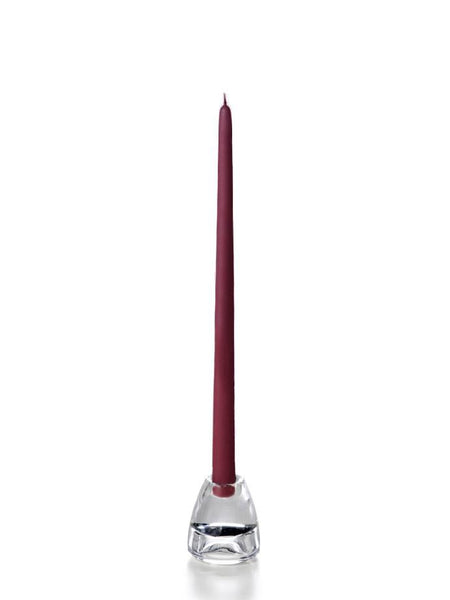 "15"" Handcrafted Taper Candles Magenta"
