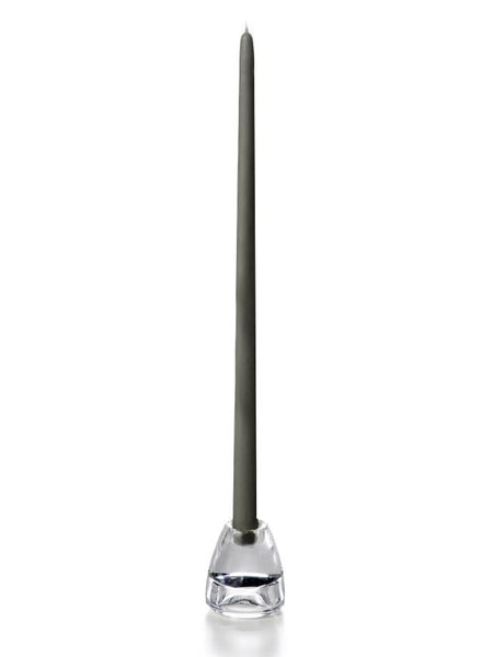"18"" Handcrafted Taper Candles Gray"