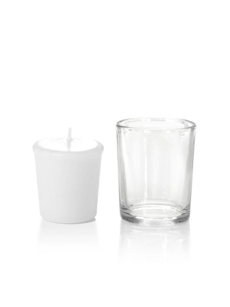 15 Hour Votive Candles & Votive Holders White