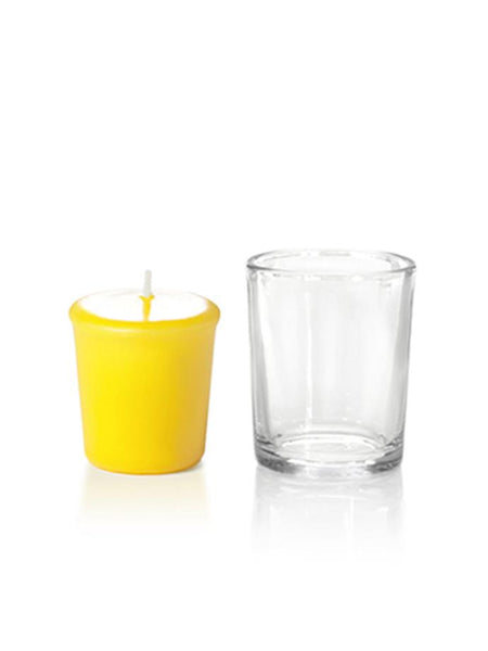 15 Hour Votive Candles & Votive Holders Bright Yellow