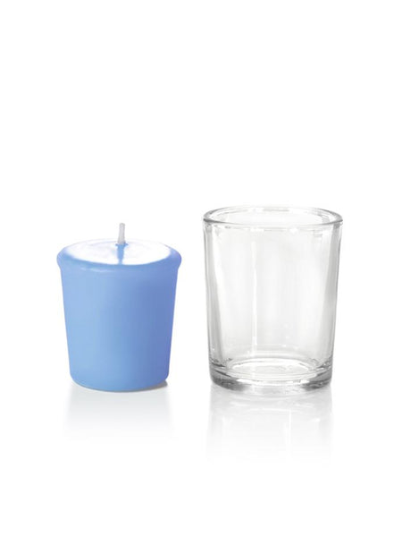 15 Hour Votive Candles & Votive Holders Periwinkle Blue