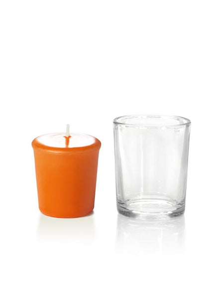 15 Hour Votive Candles & Votive Holders Bright Orange