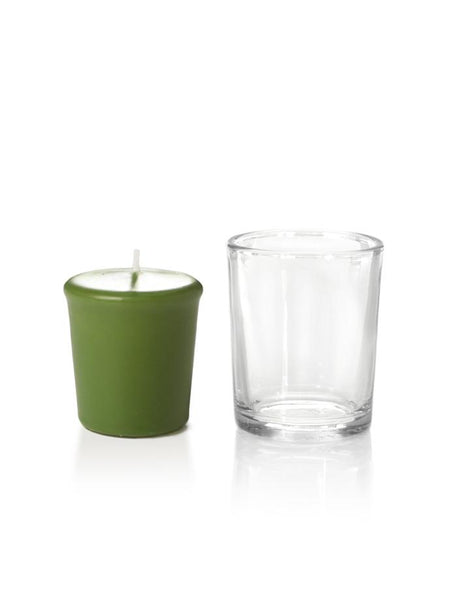 15 Hour Votive Candles & Votive Holders Green Tea