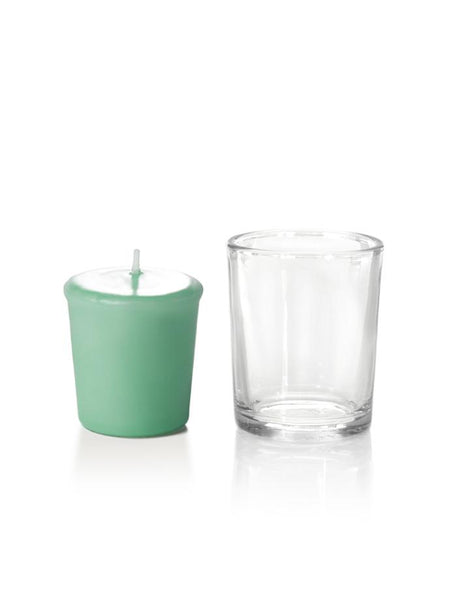 15 Hour Votive Candles & Votive Holders Tiffany Blue
