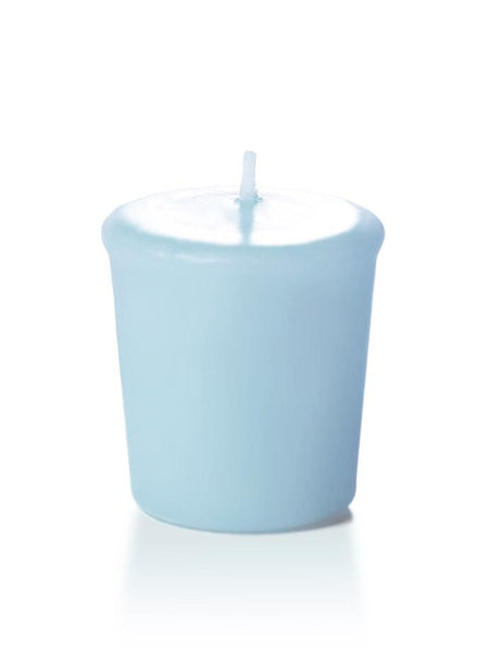 15 Hour Unscented Votive Candles Ice Blue