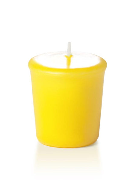 15 Hour Unscented Votive Candles Bright Yellow