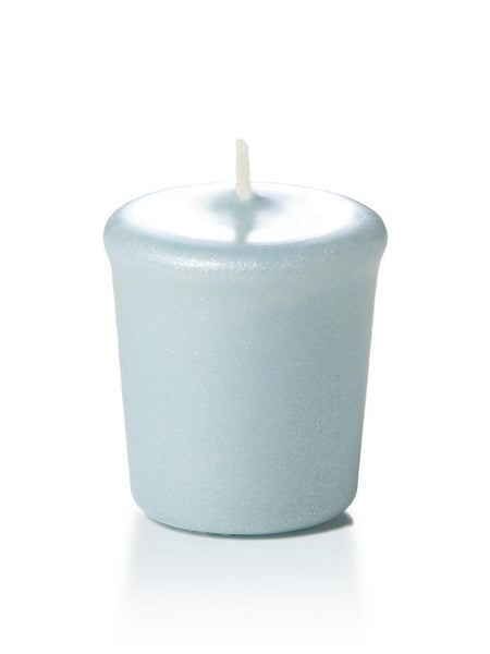15 Hour Pearlescent Votive Candles Blue