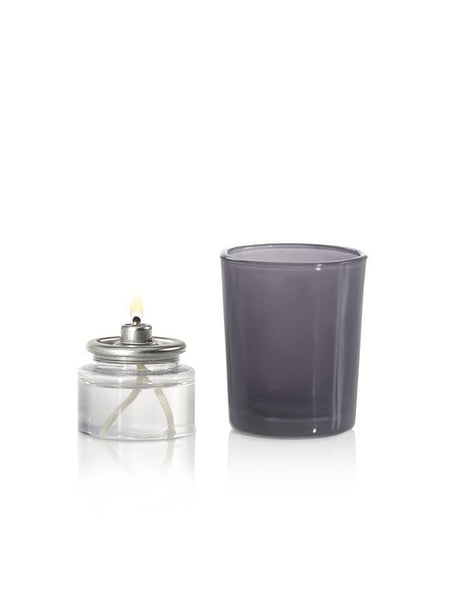 8 Hour Oil Votive Candles & Votive Holders Gray