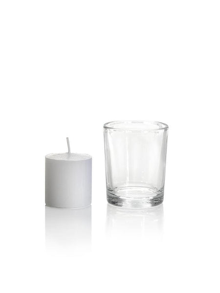 10 Hour Votive Candles And Candle Holders Clear