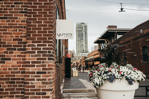 Yummi Candles is located in the heart of Toronto's Historic Distillery District