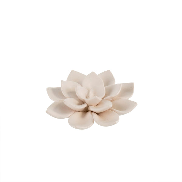 Lily Table Ornament, Matte White, each